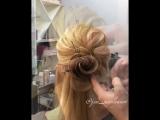 Ещё один вариант розочки из волос!