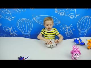 Самолёты Супер Крылья - Открываем Пола с Бэлло и Дизи. Обзор игрушек из мультика Super Wings