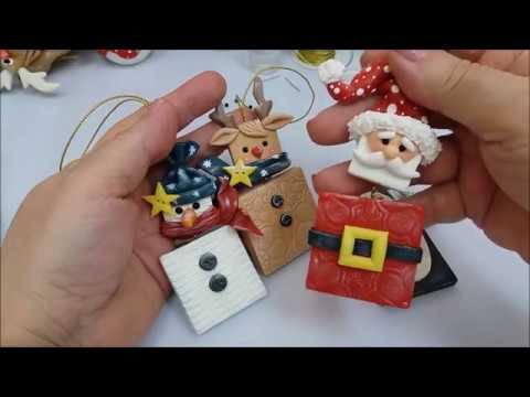 Especial de Natal 2 pingentes boneco de neve e rena