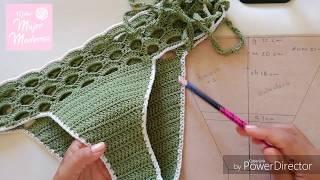 COMO TEJER DIFERENTES TALLAS PARA UN CALZON DE BIKINI O TRAJE DE BAÑO a Crochet