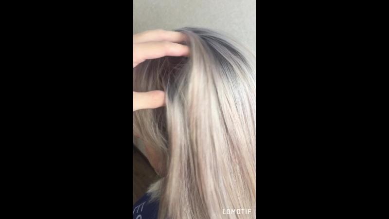 Блонд с затемнением