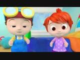 Head Shoulders Knees and Toes ¦ +More Nursery Rhymes _u0026 Kids Songs - Cocomelon (ABCkidTV)