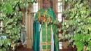 А на селе с утра идет обедня в храме Зеленою травой усыпан весь амвон Алтарь сияющий и убранный цветами Янтарным блеском свеч и солнца озарен