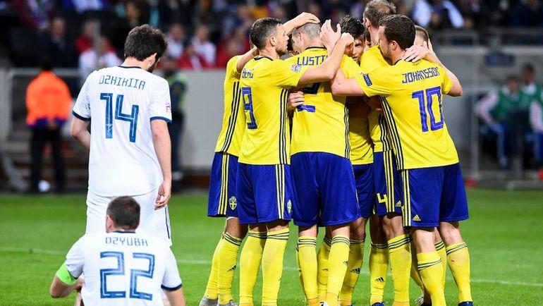 Россия проиграла Швеции в Лиге наций (Видео)