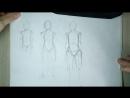 Как нарисовать аниме Тело, Торс, Туловище 2 (Пропорции) _ Как рисовать аниме с