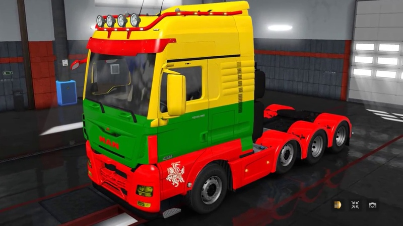 ETS2 1.31.0.75S BETA RODONITCHO SKIN MAN TGX EURO 6 BY MADSTER LITHUANIAN BY VAER