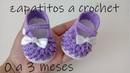Zapatos en punto garbanzo bebe modelo vaneskin 0 a 3 meses