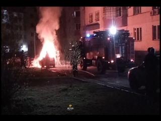 Сгорел Renault Logan в Ленинском районе