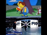 Kevin Owens and Sami Zayn similar to The Simpsons