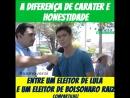 Retórica Conservadora - A DIFERENÇA DE CARATER E HONESTIDADE ENTRE UM ELEITOR DE LULA E UM ELEITOR DE BOLSONARO RAIZ_48472858867