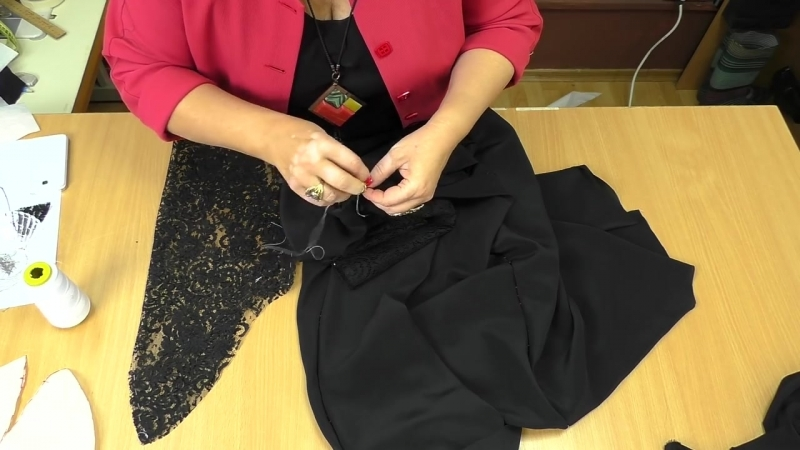 Урок 3 Кроим платье по косой с кружевным рукавом сметка и примерка