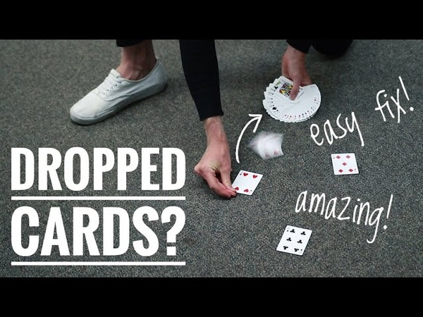 AMAZING way to pick up DROPPED CARDS TUTORIAL
