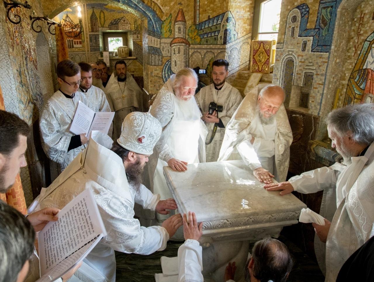 В Петровском парке освятили храм в честь священномученика Владимира Медведюка