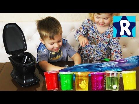 ★ ЛИЗУН и СЛИЗЬ в Унитазе Ищем Сюрпризы в Лизуне Части Тела Slime toys surprise unboxing