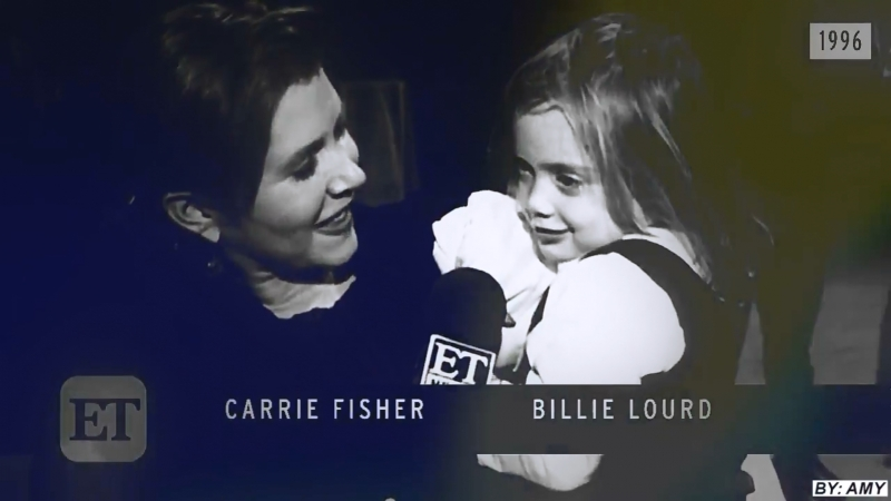 Carrie fisher billie lourd | i was made for loving you