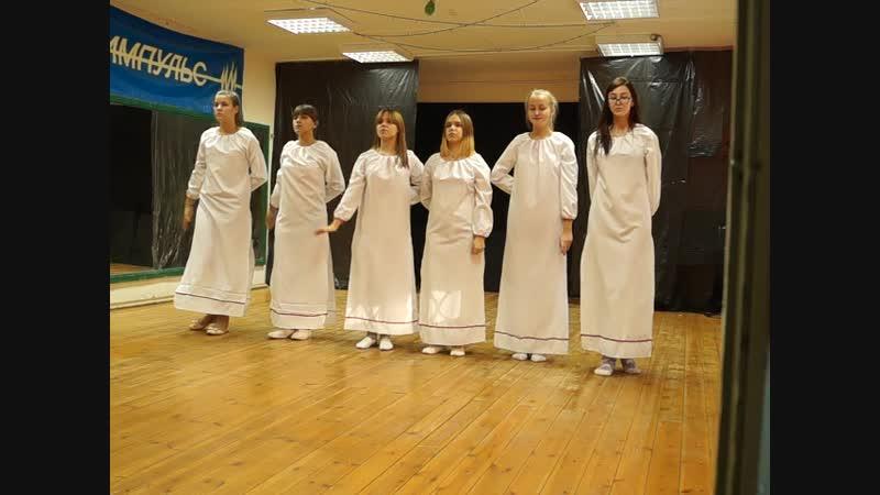 эстрадный танец Небо славян , творческий коллектив Harmony dance, СДК Импульс ноябрь 2018г.