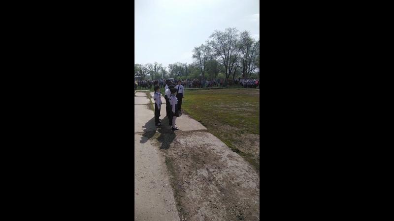 Марширование на 9 мая в посёлке Придорожный
