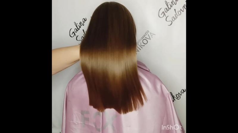 ботокс волос, состав смыт, волосы просто высушены феном
