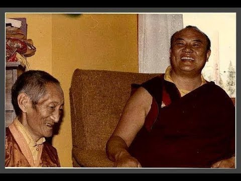 HH the 16th Karmapa and Kalu Rinpoche in Denmark 1974