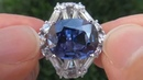 Natural Color Change Sapphire Diamond Ring C144