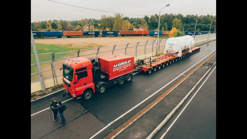 М-ГРУПП Турбина Siemens 204 тонны из Горелово в порт Бронка