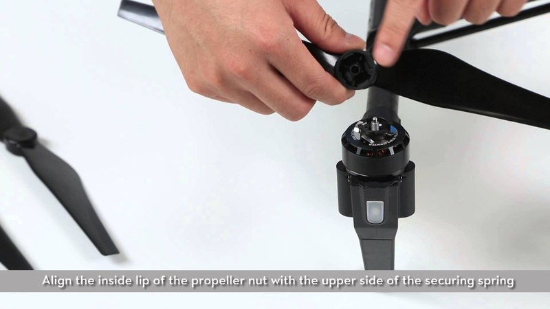 DJI – Mounting the New 1345S Quick Release Propellers