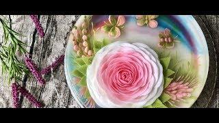 """Phiêu với """"triệu triệu đóa hồng"""" trên bánh rau câu 3D   Vẽ tranh hoa hồng siêu đẹp trên bánh thạch"""