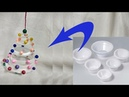 How to reuse waste disposal bowls | Best out of waste | Beautiful Hanging Decorations