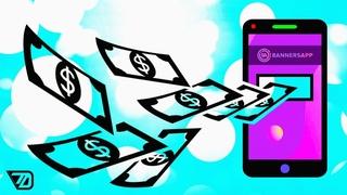 Заработок на телефоне | Banners App ОБЗОР (Подойдёт даже школьнику)