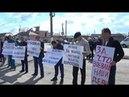 Алчные олигархи остановитесь! Пикет возле администрации. КБР, Нальчик - Нартан