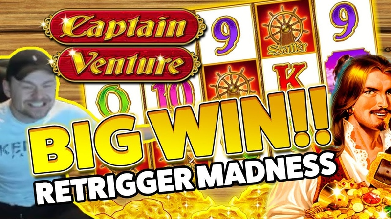 Captain Venture BIG WIN - HUGE WIN on Casino Games session - RETRIGGER MADNESS