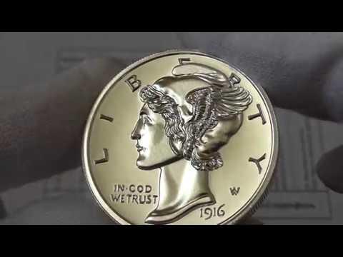 2 унции Крылатый Меркурий(10 центов крылатая Свобода), one dime Меркурий, вес 62,2 гр.,проба 999.