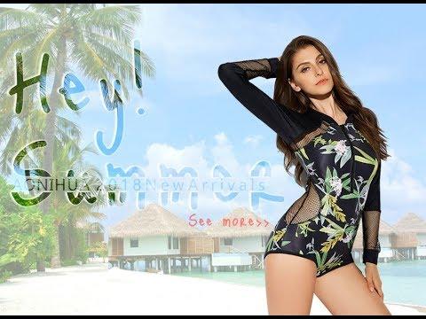 One Piece Swimsuit Bodysuit Women Push up sleeveless Surfing Swimwear female Front zipper
