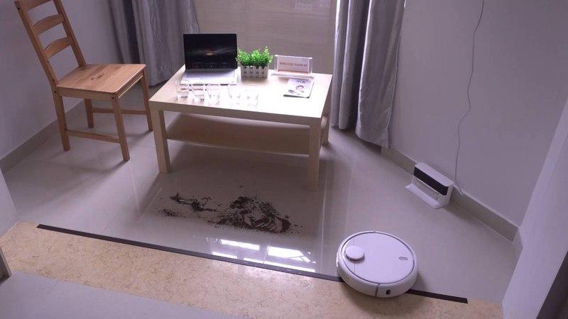 Робот-пылесос Xiaomi MIJIA Mi Robot Vacuum часть 2, обзор - мусорим и наблюдаем ))