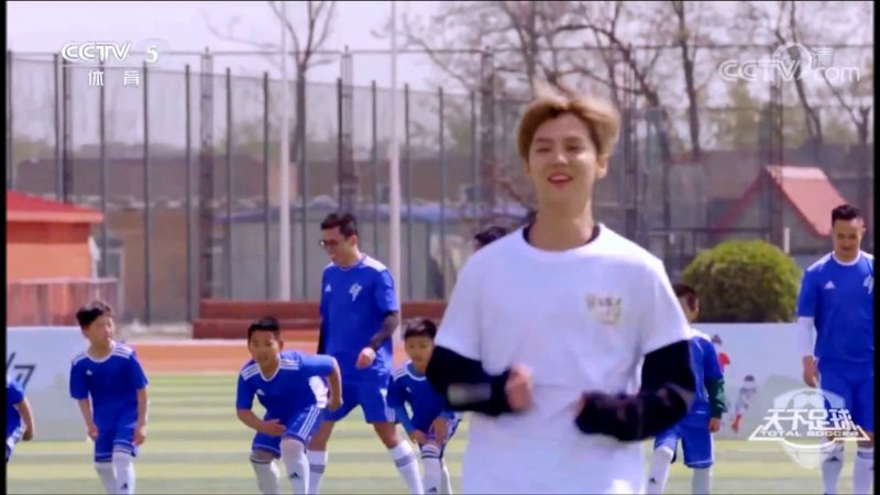 VIDEO LuHan Total Soccer @ CCTV 5 ENG SUB