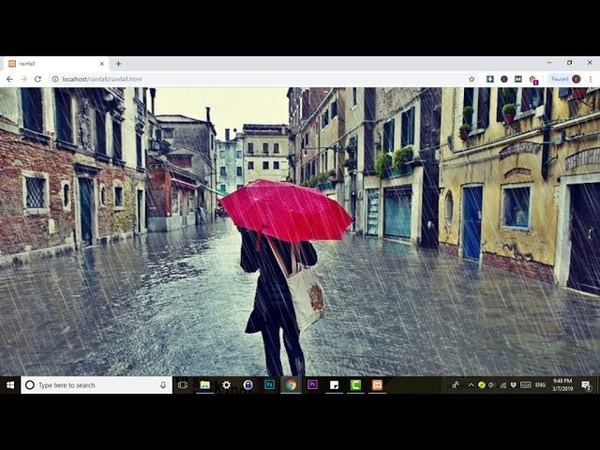 CSS Rain animation effect with lightning| Pure CSS Animation | No Javascript | No jQuery |