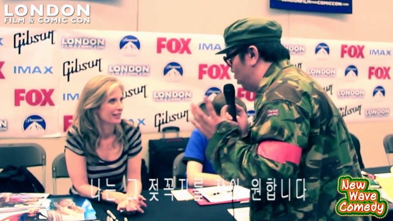 Helen Slater Funny AMWF Moments @ London Film Comic Con LFCC 2014 PART 1