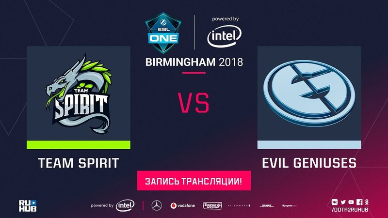 Spirit vs Evil Geniuses ESL One Birmingham game 1 Lum1Sit 4ce