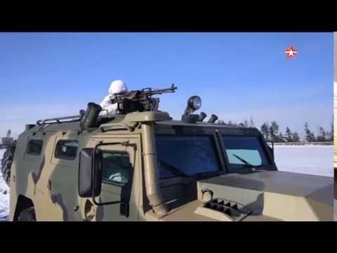 Военное ралли спецназа на многотонных броневиках Тигр
