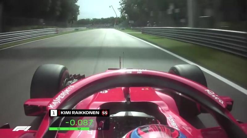 The Fastest Lap In F1 Raikkonens Monza Pole 2018 Italian Grand Prix
