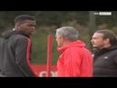 Pogba and Mourinho trash talk during training!!