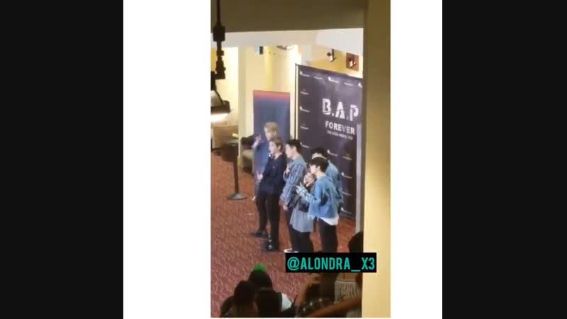 18.11.18 2018 B.A.P. North America Tour FOREVER - Атланта