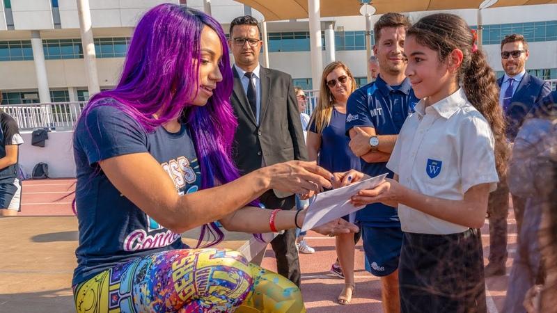 SBMKV Video Sasha Banks visits the UAE to announce Special Olympics World Games partnership