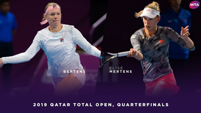Kiki Bertens vs Elise Mertens 2019 Qatar Total Open Quarterfinal WTA Highlights