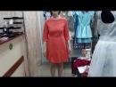Коралловое платье с открытой спиной, купальник фуксия