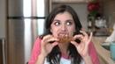 Rebecca Black Tries Roscoe's Chicken Waffles