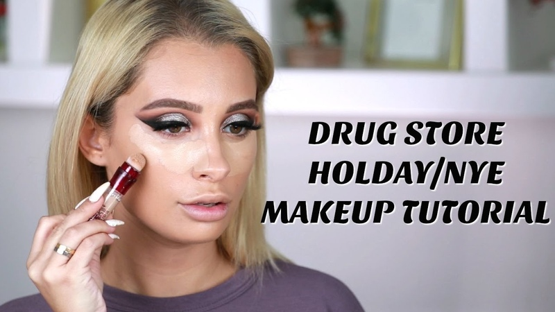 DRUGSTORE NEW YEARS EVE MAKEUP TUTORIAL