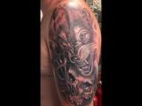 #COVERUP #Wolf #Skull (Tattoo artist Ruslan Aslanov)