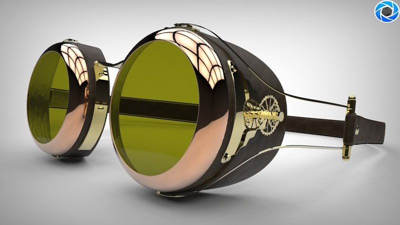 How to texture Steampunk goggles in Maya ( Part 2 of 2 )
