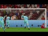 Милан - Барселона (гол Абате) / FIFA18